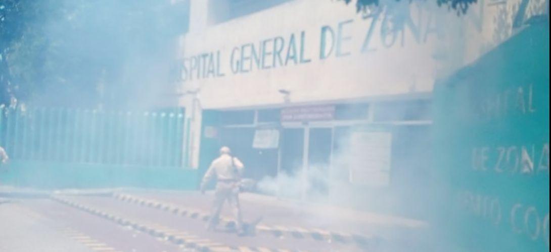 Fumigan hospital General de Zona 71 del IMSS