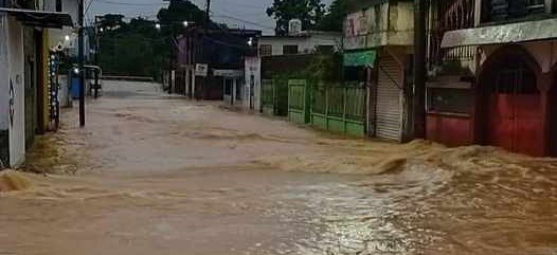 En Agua Dulce hay 19 colonias inundadas